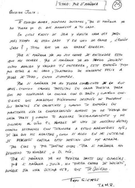 carta a un hermano que esta triste quot por si ma 241 ana quot la emocionante carta de un enfermo de