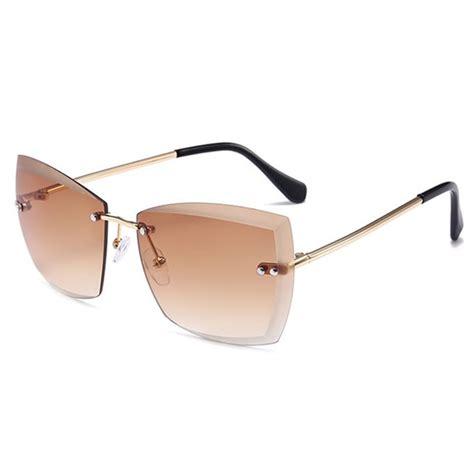 Rimless Square Sunglasses rimless clear lens square sunglasses sunglasses
