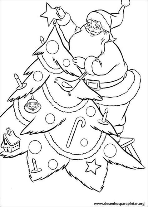Papai Noel desenhos para imprimir colorir e pintar do
