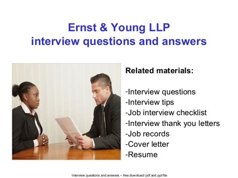 ernst young llp interview questions and answers