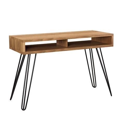 Console Table Computer Desk En Casa 174 Computer Table Desk 110x45cm Office Console Pc Workstation Brown 4059438084898 Ebay