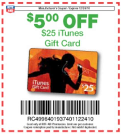 Rite Aid Itunes Gift Card Coupon - rite aid 25 itunes gift card for 17 frugal living nw