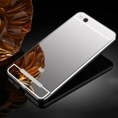 2in1 Mirror Xiaomi Redmi Note 3 Iring Silver cover for xiaomi redmi 5a aluminum metal bumper mirror pc plastic back cover coque for