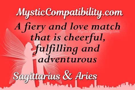 sagittarius aries compatibility mystic compatibility