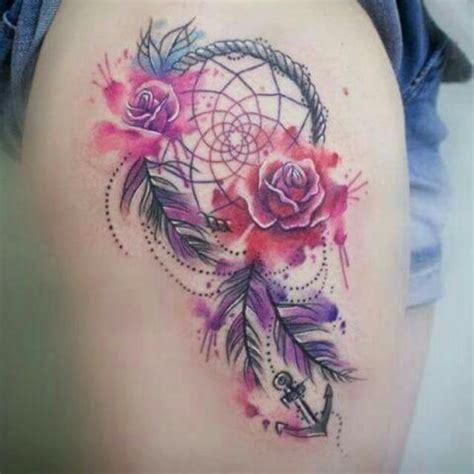 imagenes de tatuajes de atrapasueños atrapasue 241 os y flores rosas tatuajes para mujeres