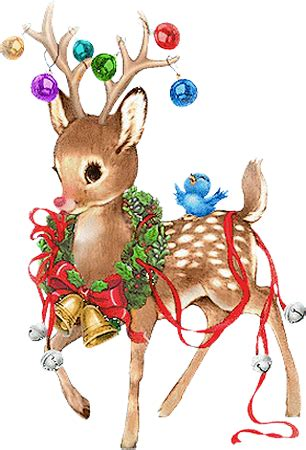 imagenes de navidad venados trineos y renos para navidad clipart vintage png