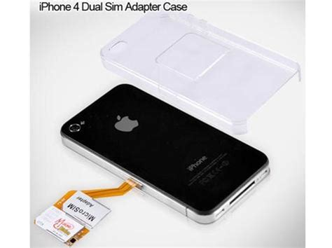 iphone 4 sim card iphone 4 dual sim card adapter with back cover for 28 99 techhail