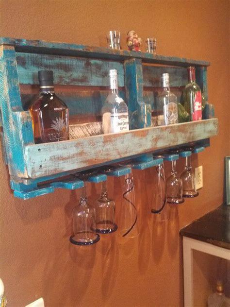 Liquor Rack by Rustic Pallet Wine Liquor Rack