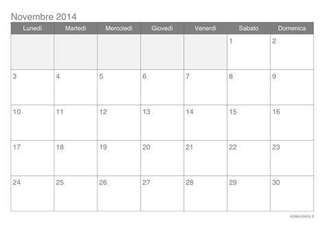 Calendario Novembre Calendario Novembre 2014 Da Stare Icalendario It