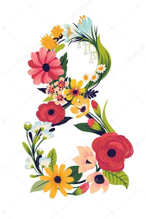 8 Floral And Lovely Projects by Lovely Decorative Floral Number 8 Stock Vector 169 Masha