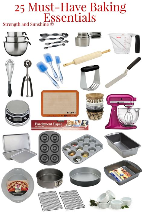 must have kitchen items list 25 must have baking essentials pastry chef strength and