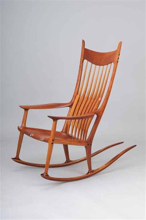 Cherry Rocking Chair - a and important cherry rocking chair by sam maloof on