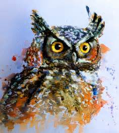 owl paintings with quotes quotesgram