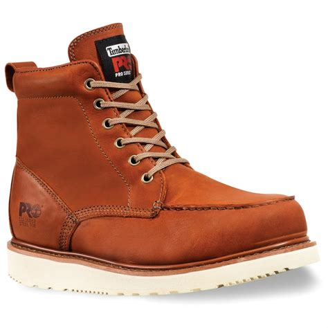 s timberland 174 pro 174 6 quot wedge sole boots rust 183129