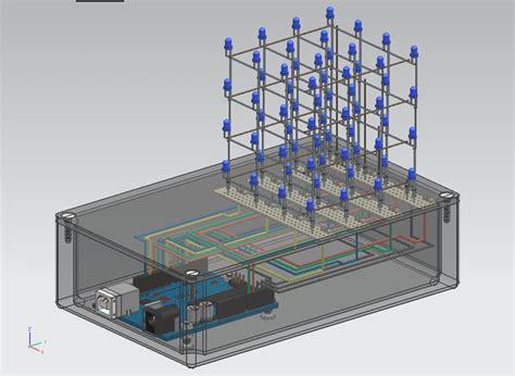code arduino led cube arduino led cube step iges 3d cad model grabcad