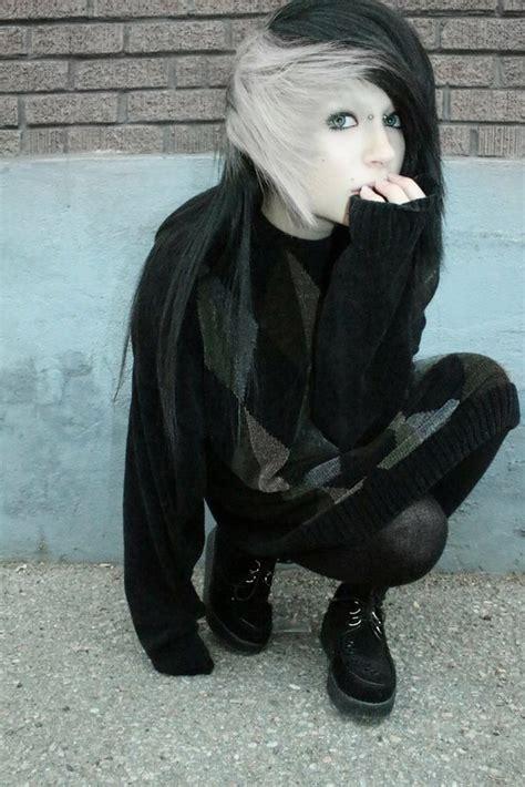 emo hairstyles black and white lauren von reyes image 1735043 by patrisha on favim com