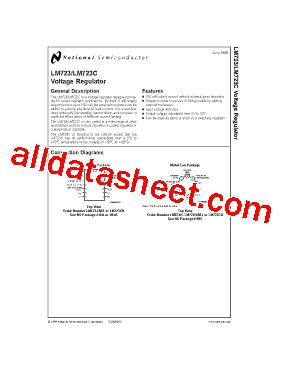 Lm723 National Semiconductor lm723 fiche technique pdf national semiconductor ti