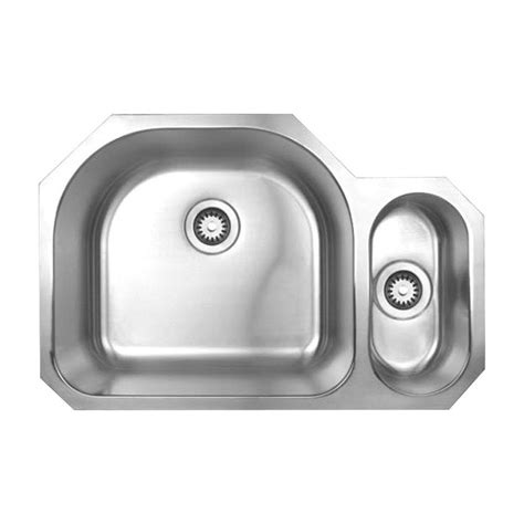 Brushed Stainless Steel Undermount Kitchen Sink Whitehaus Collection Noah S Collection Undermount Brushed Stainless Steel 31 1 2 In 0