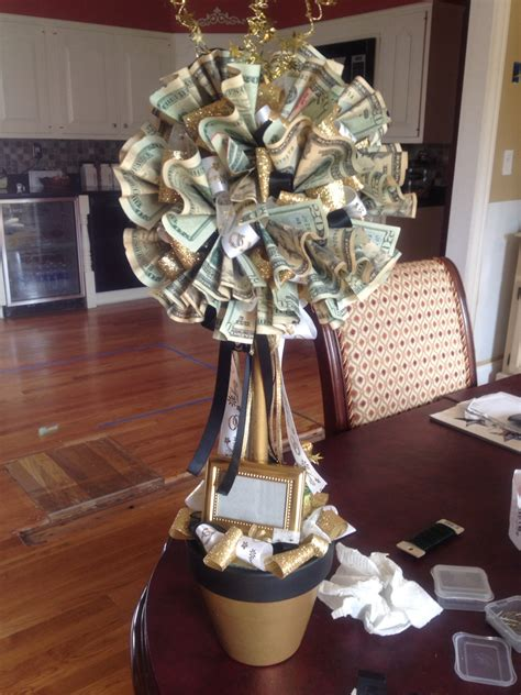 Wedding Gift Money Ideas by 50th Wedding Anniversary Money Tree Topiary Topiary