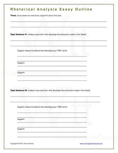 rhetorical analysis outline template rhetorical analysis essay outline source