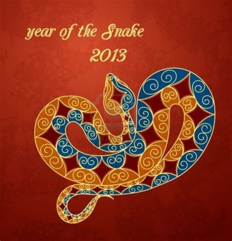 Year Of Snake 03 lunar new year 2013 greetings cards year