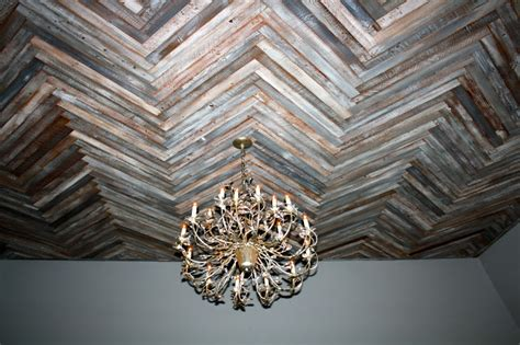 hometalk reclaimed wood herringbone pattern   ceiling