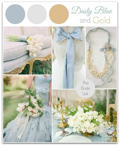 Dusty Blue and Gold Wedding Inspiration   Bride Link