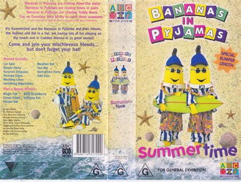Pp Banana Ie bananas in pyjamas summer time vhs pal a find