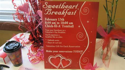 fil a valentines day sweetheart breakfast fil a tomball