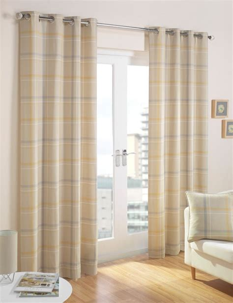 dove grey curtains lovely soft buttery yellow and dove grey checked curtains