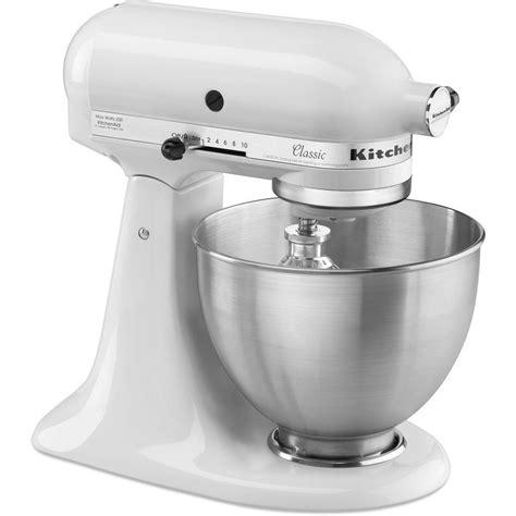 kitchenaid classic  qt tilt head white stand mixer