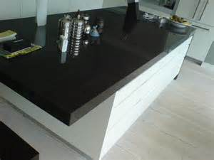 Kitchen Worktop Ideas Black Fitting Kitchen Worktops With White Drawers For
