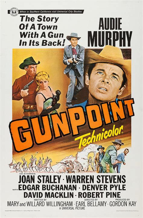 gunpoint audie murphy gunpoint l r audie murphy joan staley photograph by everett