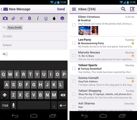 yahoo mail for android yahoo mail gets a rev brand new apps for iphone android and windows 8 released redmond pie