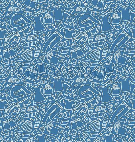 clothes pattern vector clothes pattern stock vector colourbox