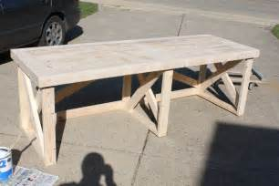 Diy Build A Desk How To Build This Trestle Desk From Scrap Lumber