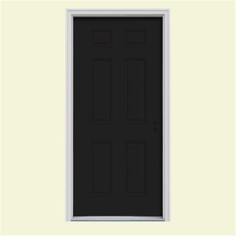 Painting 6 Panel Interior Doors by Jeld Wen 30 In X 80 In 6 Panel Black Painted W White