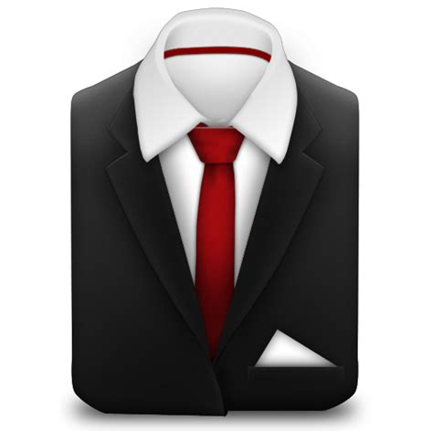file suit manager suit red tie icon free download as png and ico