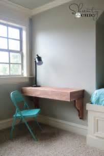 Diy Wall Desk Diy Frame Shelves Shanty 2 Chic