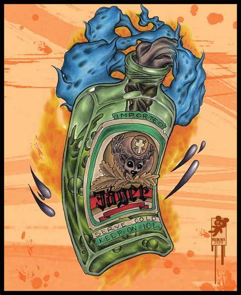jagermeister tattoo jagermeister molotov cocktail by rikkimusmaximus on deviantart