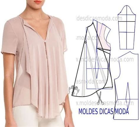 45647 Blouse Batwing Rosa 1 1000 images about moldes y patrones on sewing patterns patrones and free sewing