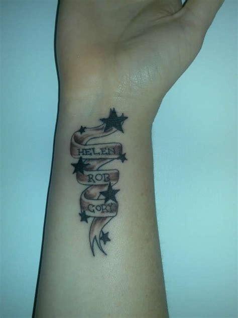 tattoo ideas on wrist with names my wrist tattoo 101347 jpeg 600 215 800 names on a ribbon