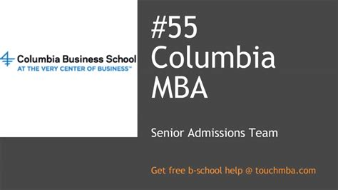 Columbia Mba Prerequisites by Columbia Mba Admissions With Senior Admissions