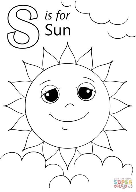 letter s coloring pages letter s is for sun coloring page free printable