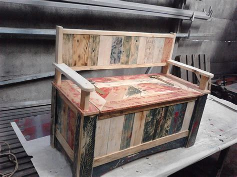 beautiful pallet storage bench recycled pallets ideas