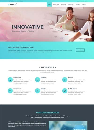 Free Website Templates And Bootstrap Themes Webthemez Free Sle Html Web Page Templates
