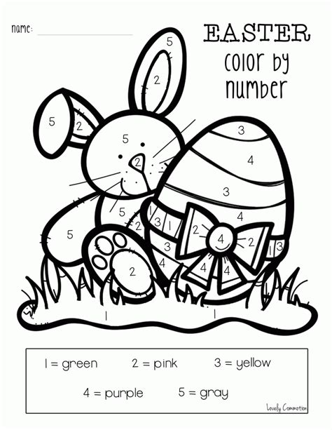 easter coloring pages color by number easter color by number coloring home