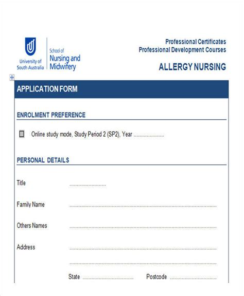 professional development application form template 43 sle application form templates in doc