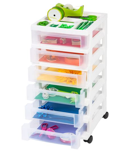 plastic storage cart 6 drawers 6 drawer plastic storage cart images