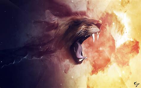 lion roar abstract art hd artist  wallpapers images